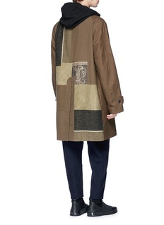 Ziggy Chen Graphic patchwork oversized twill coat
