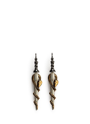 Main View - Click To Enlarge - Alexander McQueen - Snake dagger earrings
