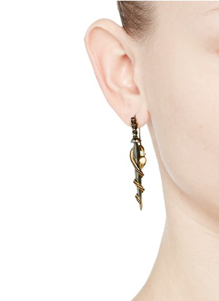 Figure View - Click To Enlarge - Alexander McQueen - Snake dagger earrings