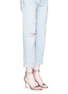Gianvito Rossi 'Portofino' holographic lamé sandals