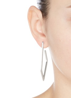 W.Britt 'Hoop Link' silver angular hoop earrings
