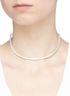W.Britt 'On The Side' white silver bar chain choker