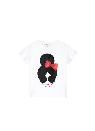 Main View - Click To Enlarge - alice + olivia - 'Stacey's Face' cotton jersey kids T-shirt