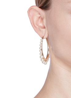 Anton HeunisSwarovski pearl hoop earrings