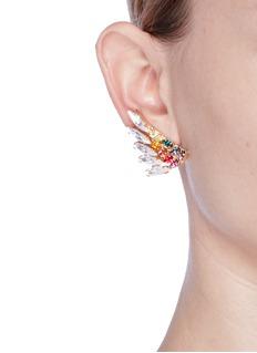 Anton HeunisSwarovski crystal rainbow wing earrings