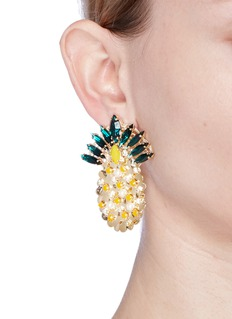 Anton Heunis'Ananas' Swarovski crystal and pearl pineapple earrings