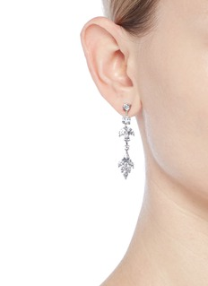CZ by Kenneth Jay Lane Cubic zirconia link earrings