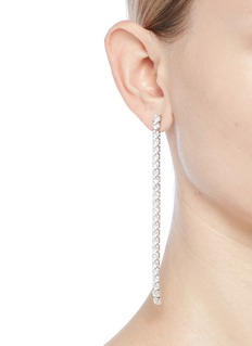CZ by Kenneth Jay Lane Cubic zirconia linear link earrings