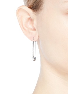 CZ by Kenneth Jay Lane Cubic zirconia safety pin earrings