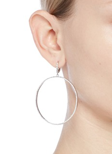 CZ by Kenneth Jay Lane Cubic zirconia hoop earrings