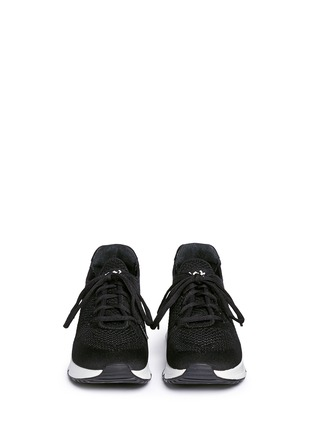 Front View - Click To Enlarge - Ash - 'Lucky' mix knit sneakers