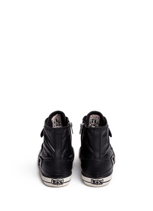 Back View - Click To Enlarge - Ash - 'Virgin' buckle leather high top sneakers