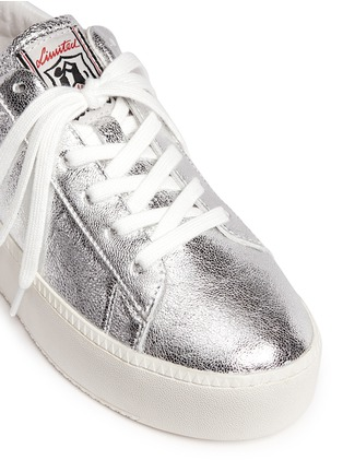 Detail View - Click To Enlarge - Ash - 'Cult' metallic leather platform sneakers