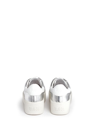 Back View - Click To Enlarge - Ash - 'Cult' metallic leather platform sneakers