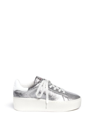 Main View - Click To Enlarge - Ash - 'Cult' metallic leather platform sneakers