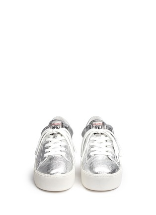 Figure View - Click To Enlarge - Ash - 'Cult' metallic leather platform sneakers
