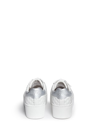 Ash - 'Chicklet' star embossed leather platform sneakers