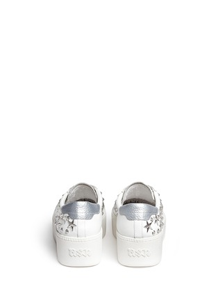 Back View - Click To Enlarge - Ash - 'Cyber' star stud leather platform sneakers