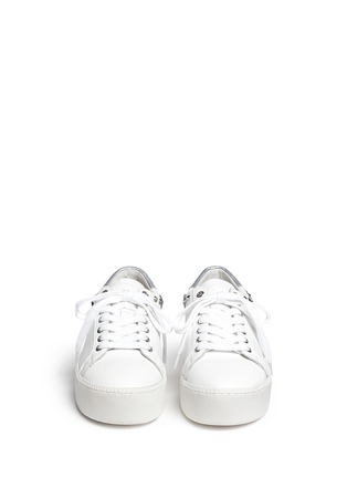 Front View - Click To Enlarge - Ash - 'Cyber' star stud leather platform sneakers