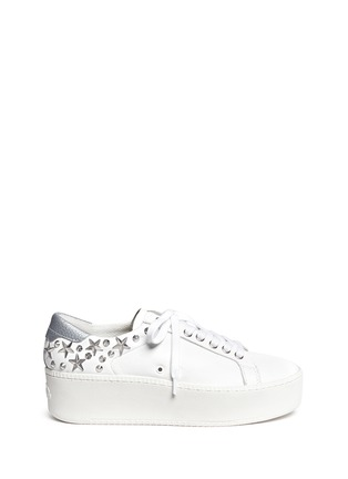 Main View - Click To Enlarge - Ash - 'Cyber' star stud leather platform sneakers