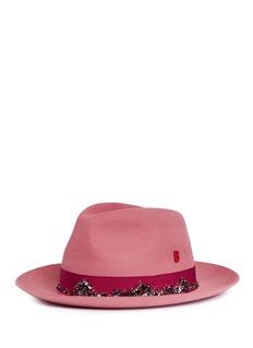My Bob 'Tribecca' rabbit furfelt fedora hat