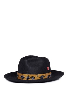 My Bob 'Guni' sequinned mountain rabbit furfelt fedora hat