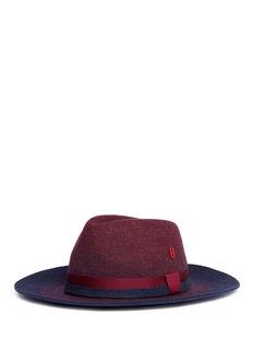 My Bob 'Tuileries' ombré wool felt fedora hat