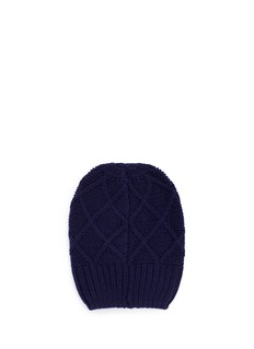 My Bob 'Bonnet Diamonds' Snow Star cashmere beanie