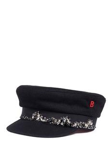 My Bob 'Stewart' embellished wool boyish cap
