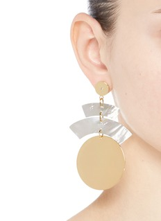 Elizabeth and James 'Terri' shell plate coin drop earrings
