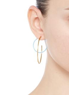 Elizabeth and James 'Rene' colourblock hoop earrings