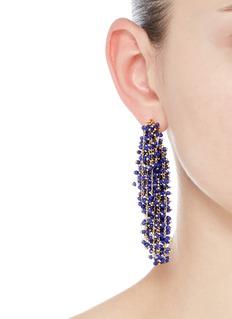 Elizabeth and James 'Simone' beaded curb chain fringe earrings