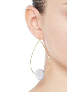 Elizabeth and James'Charlotte' coin charm teardrop hoop earrings