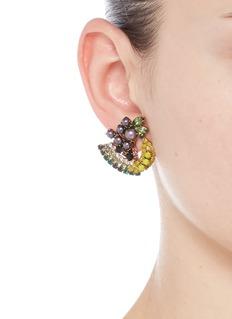 Elizabeth Cole 'Petite Fruit Salad' Swarovski crystal earrings
