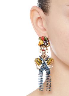 Elizabeth Cole'Chiquita' Swarovski crystal woman drop earrings