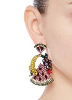 Elizabeth Cole'Fruit Salad' Swarovski crystal drop earrings