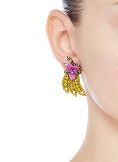 Elizabeth Cole'Banana' Swarovski crystal earrings