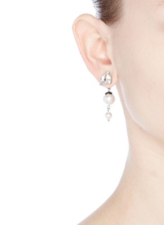 Joomi Lim 'Monochrome Chic' Swarovski crystal and pearl drop earrings