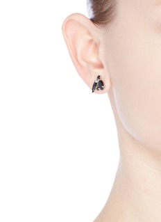 Joomi Lim 'Monochrome Chic' Swarovski crystal asymmetric earrings