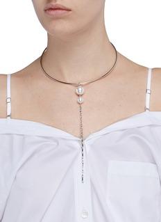 Joomi Lim'Lady Luxe' Swarovski pearl chain wire choker
