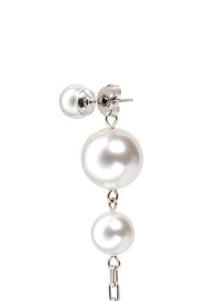 Detail View - Click To Enlarge - Joomi Lim - Swarovski pearl chain drop earrings