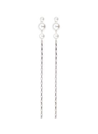 Main View - Click To Enlarge - Joomi Lim - Swarovski pearl chain drop earrings