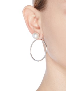 Joomi Lim Swarovski pearl detachable hoop earrings