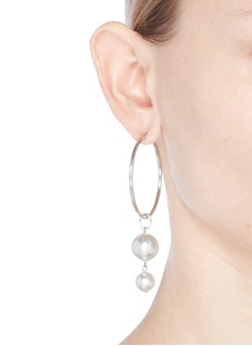 Joomi Lim Swarovski pearl detachable drop hoop earrings
