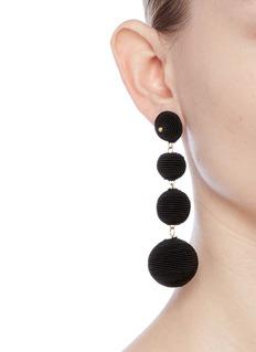 Kenneth Jay Lane'Carnival' threaded sphere drop earrings
