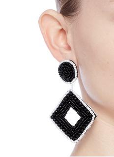 Kenneth Jay LaneBeaded rhombus drop earrings