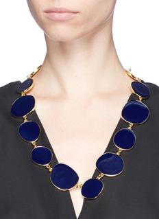 Kenneth Jay Lane Round enamel disc necklace