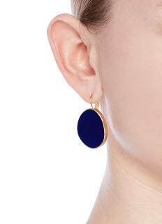 Kenneth Jay Lane Irregular enamel oval drop clip earrings