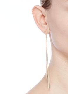 Kenneth Jay Lane Snake chain bar drop earrings