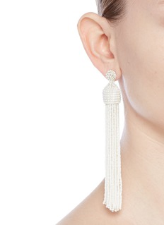 Kenneth Jay Lane Beaded tassel drop earrings